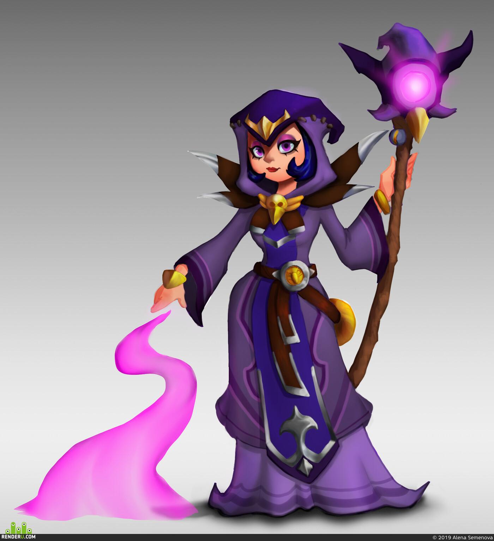 фентази, ведьма, 2dart, witch
