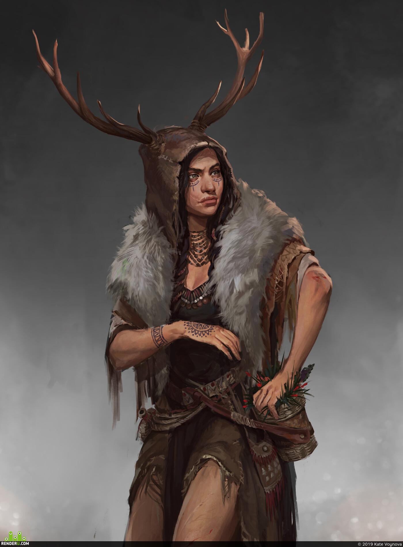 Концепт-арт, концепт персонажа, Персонаж, игровой персонаж, дизайн персонажа, женскийперсонаж, Концепция персонажей, фентези, Компьютерная графика/CG