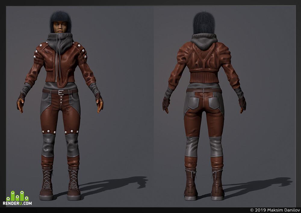 3д персонаж, девушка, одежда