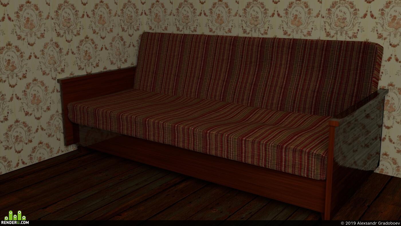 Blender, Soviet, ссср, диван