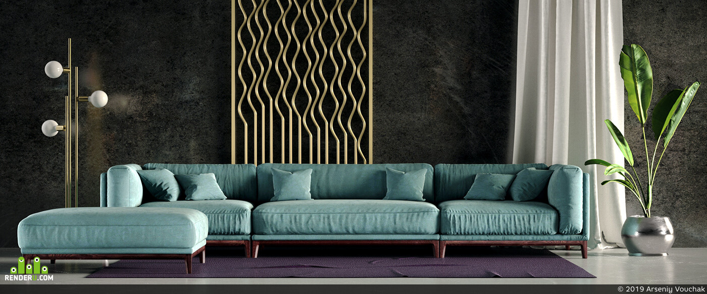 furniture, 3d, visualization, render, Corona. interior, design, CG, realistic, graphic