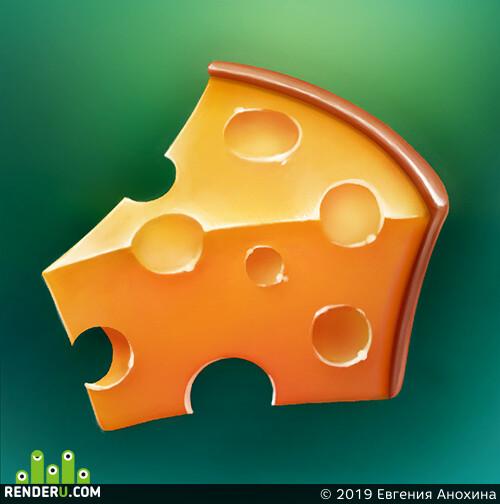 иконка, подарок, сыр