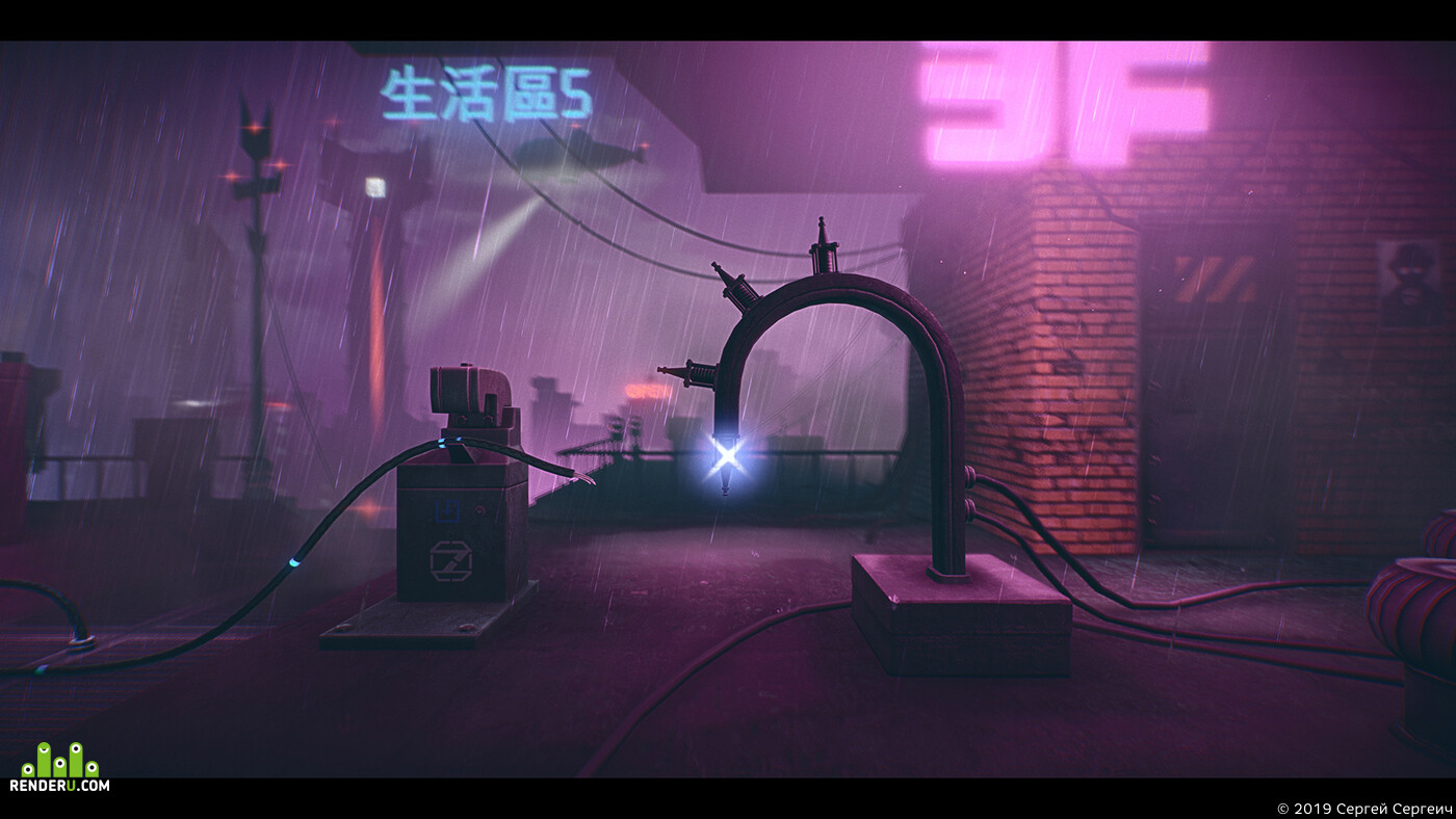киберпанк, футуризм, gameart, indiegame, инди игры