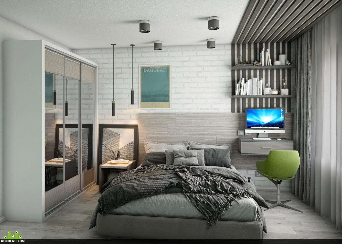 3Dsmax, Vray, render, adobephotoshop, Interior Visualizathion, interior design, interior, bedroom, bedroom design, interior bedroom