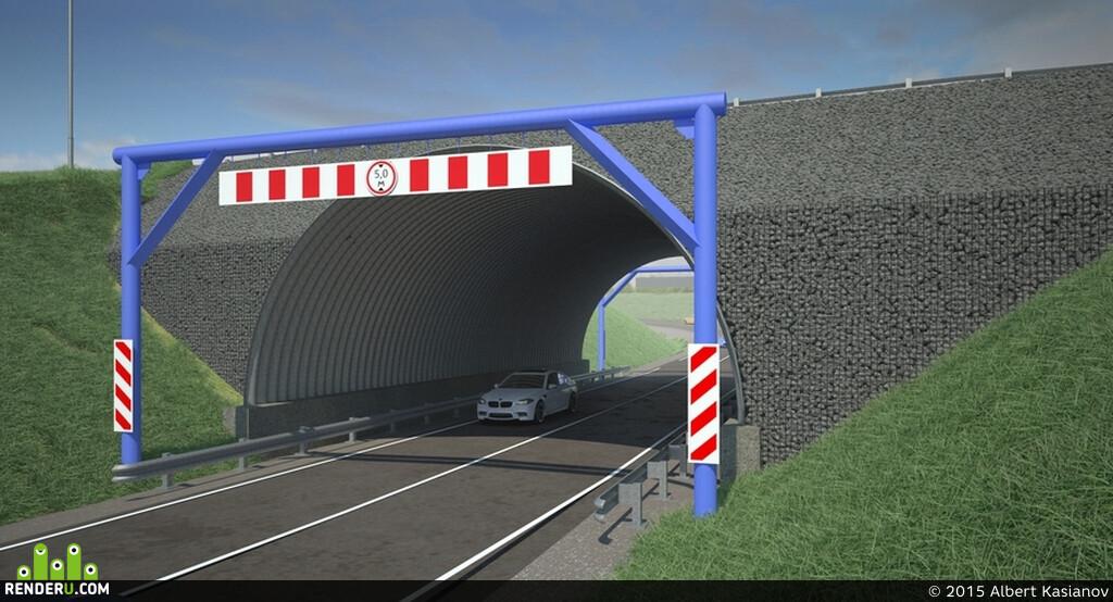 транспортная развязка, мост