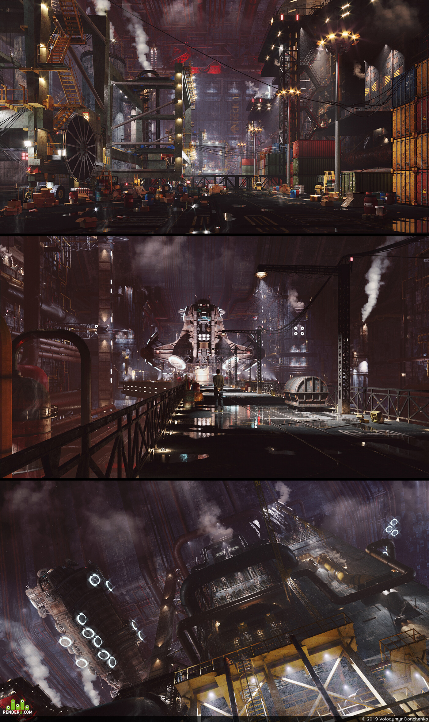 Traditional 3D, Environments, Science Fiction, architectural visualization, architecture, digital 3d