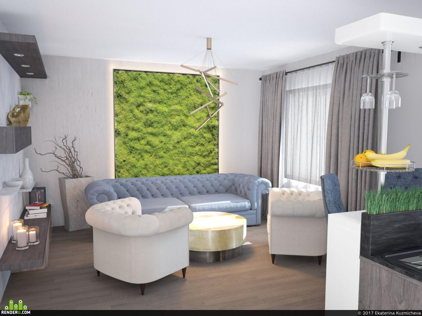 интерьер, дизайн интерьера, Интерьерная визуализация, визуализация интерьеров, 3д визуализация интерьера