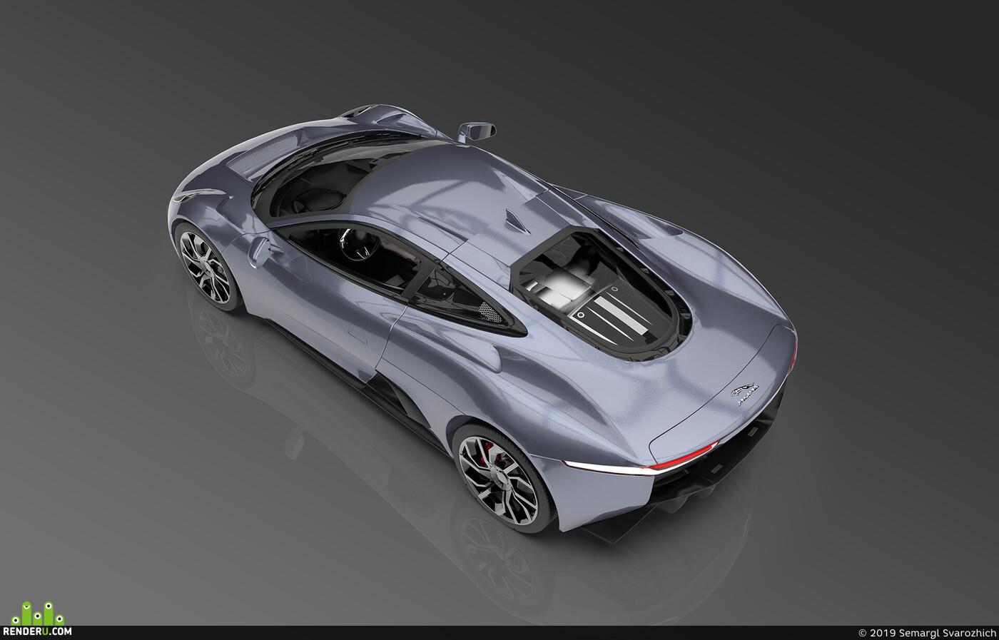 концепт, концепт кар, спорткар, транспорт, Моделирование, 3д моделирование