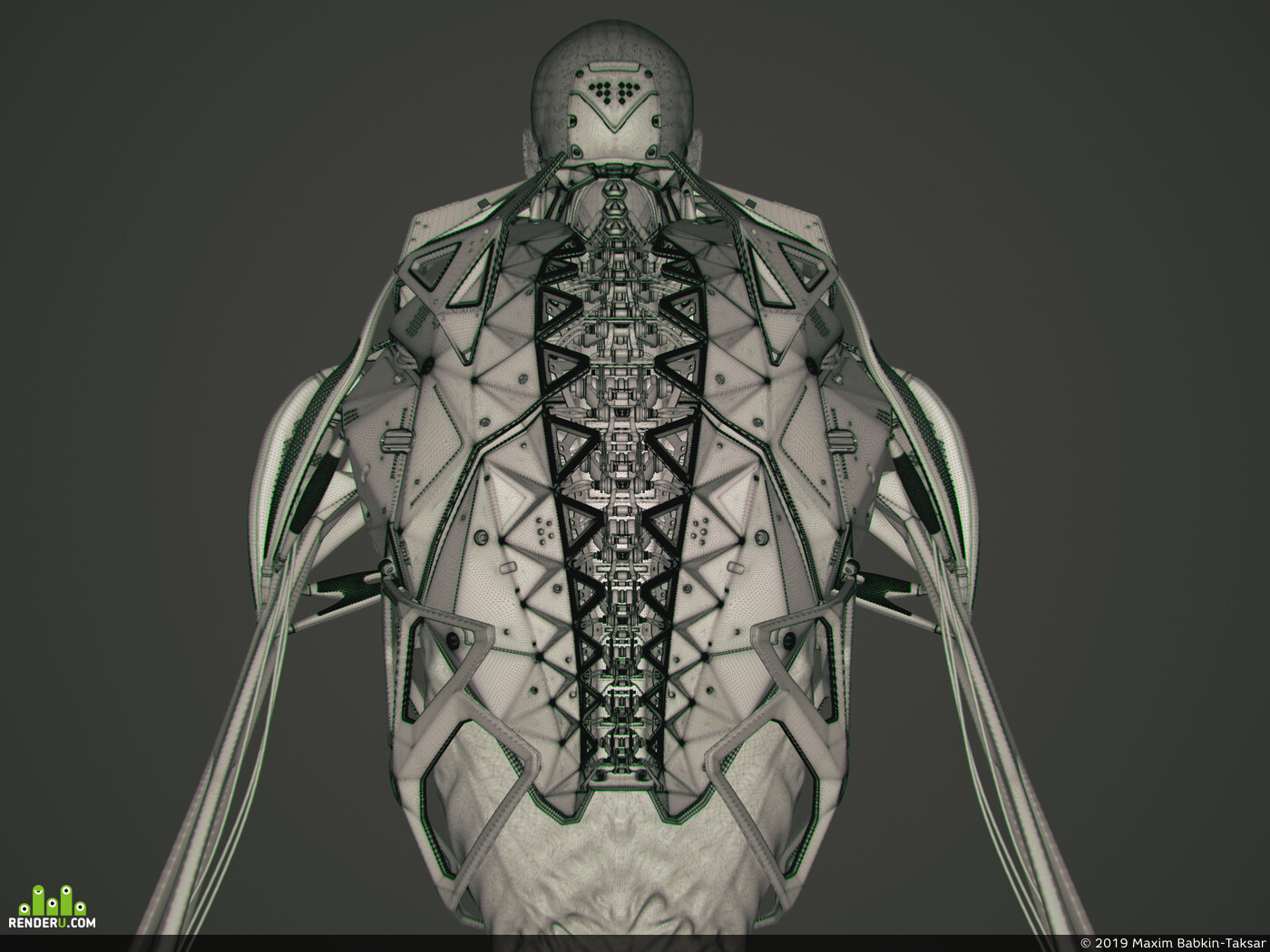 ConceptArt, sculpting, digital3d, character3d, characterdesign, ZBrush, mecha, sci-fi, KeyShot