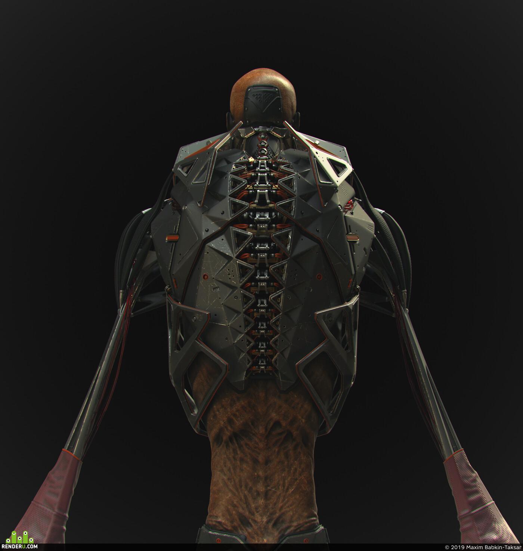 Science Fiction, ConceptArt, ZBrush, characterdesign, character3d, digital3d, sculpting, KeyShot