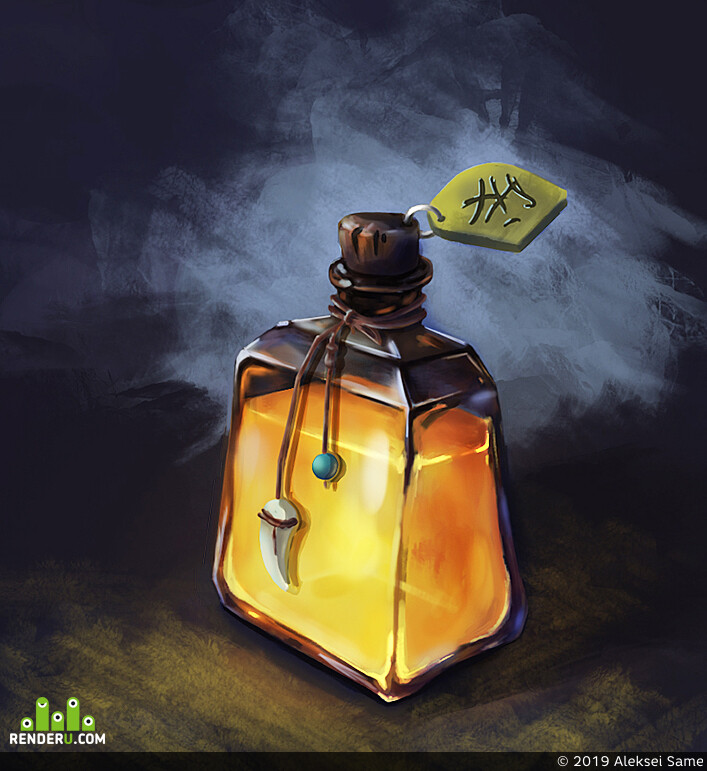 Game props, potion, bottle, icons, magic, 2D, 2dart, props, gamedev, gameart