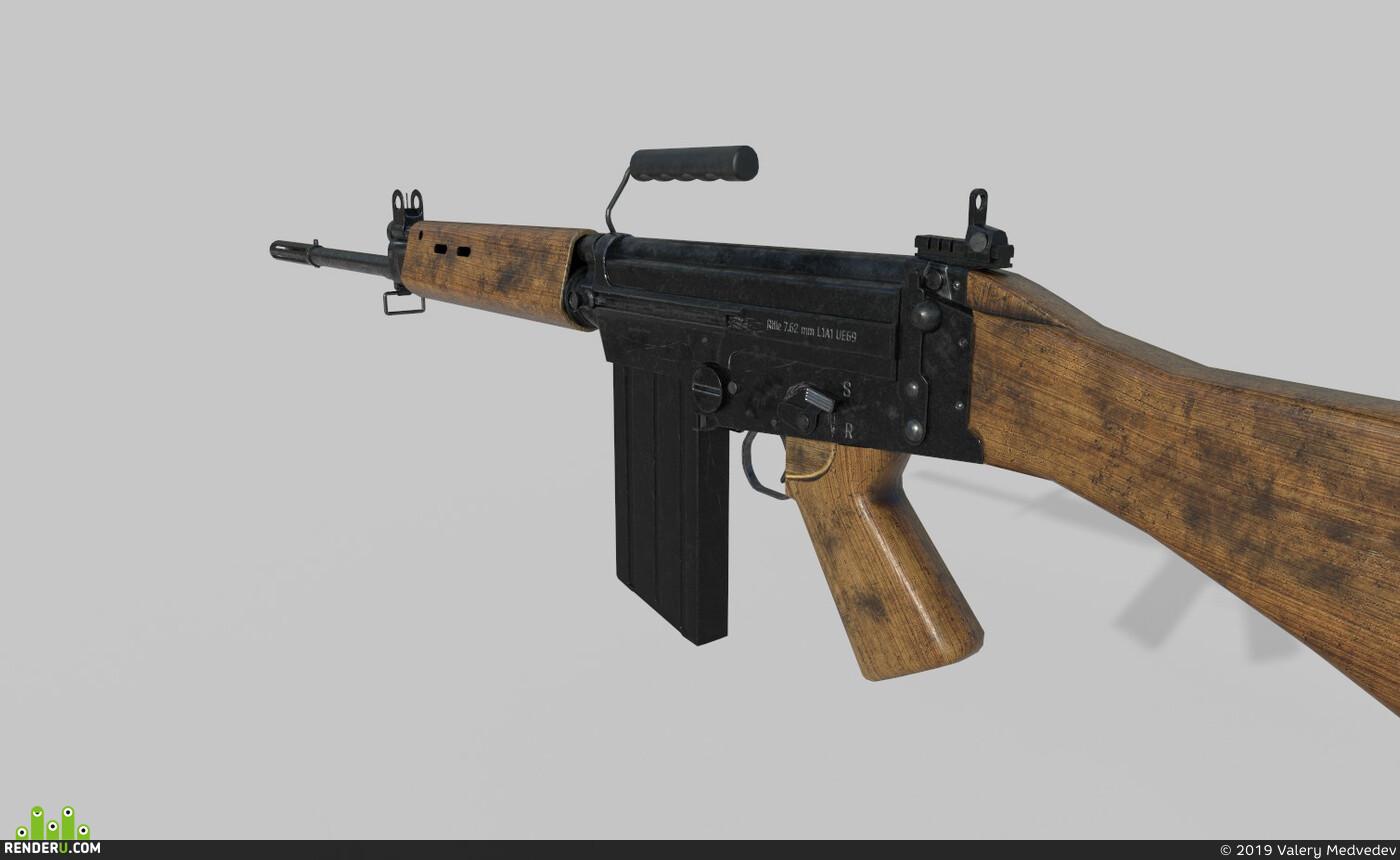 Fn fal, L1A1, Weapons, gun, rifle