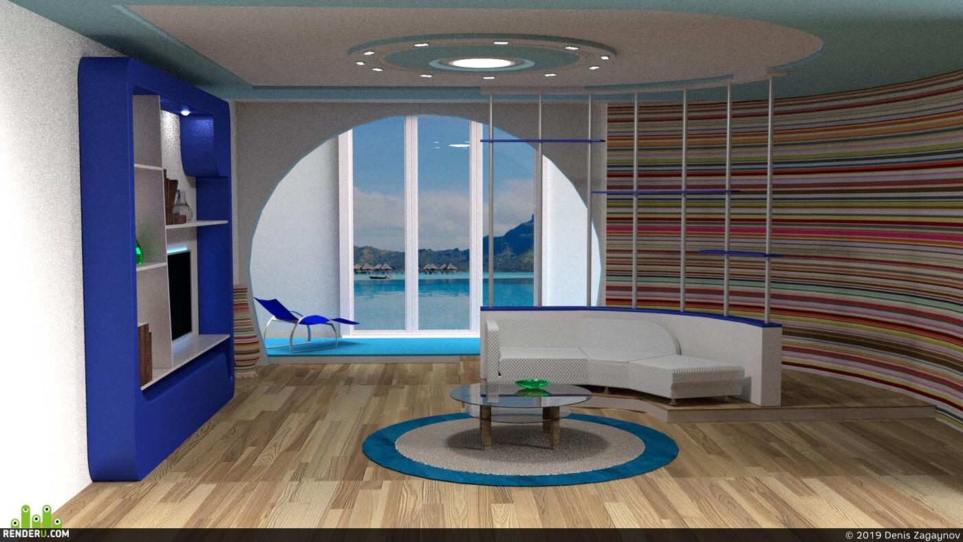 море, Квартира, комната