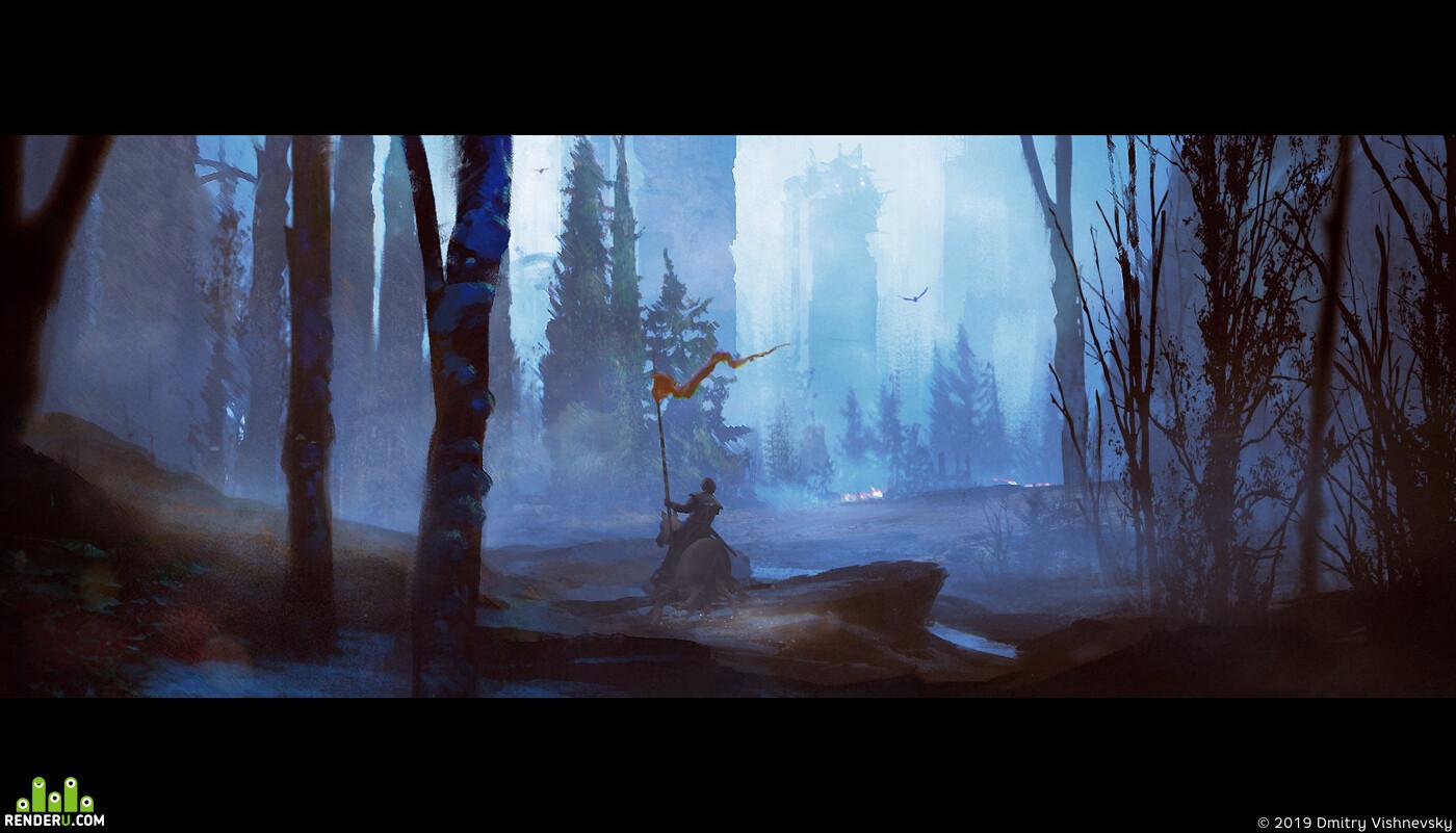 Environments, Fantasy, horse