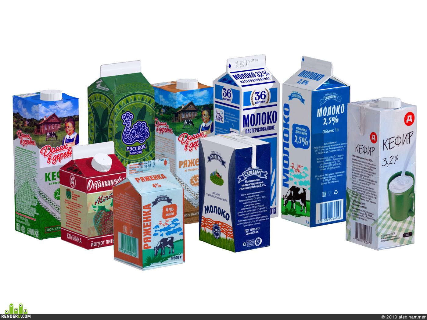 Пакет, молоко