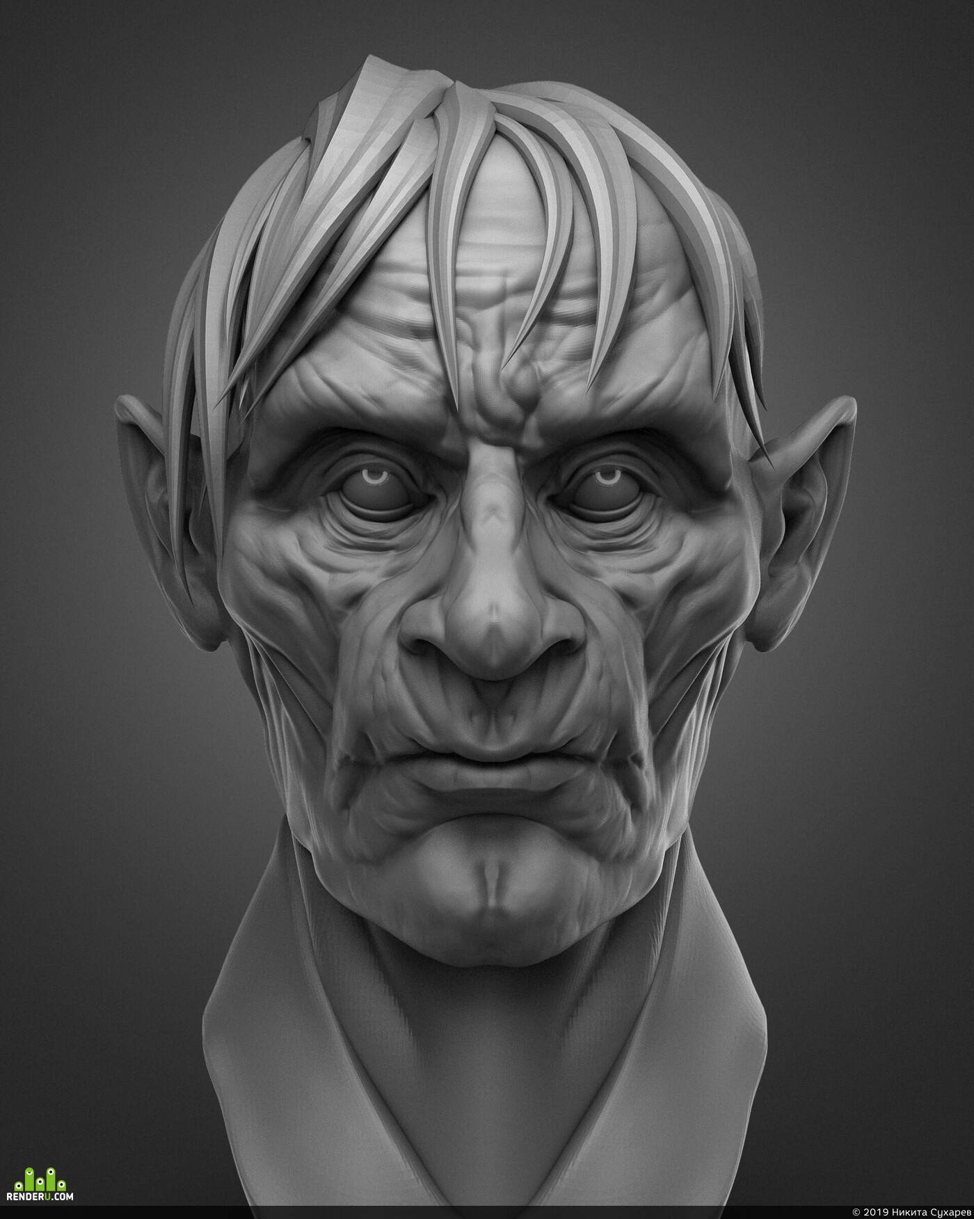 ZBrush, head, sculpting