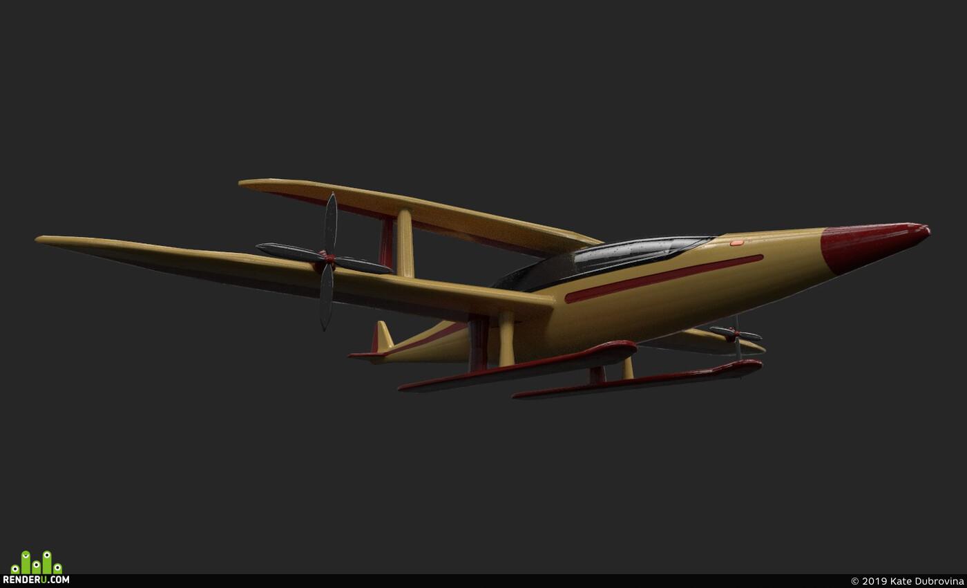 транспорт, самолет, пропсы