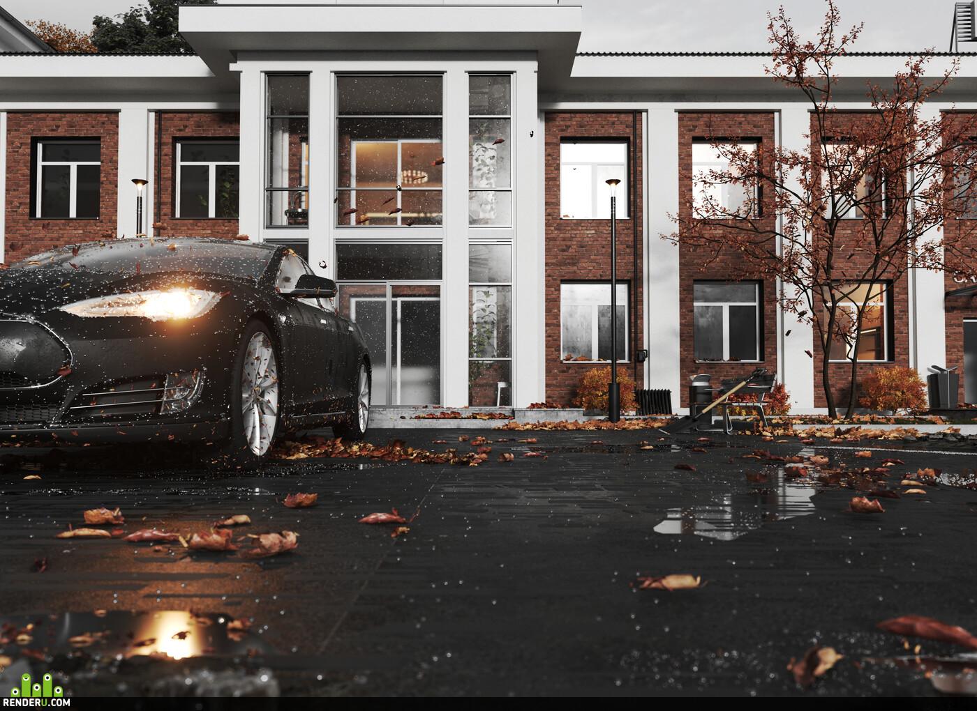 3ds Max, Corona Renderer, exterior., Exterior architecture, visualization, 3D Studio Max, architect