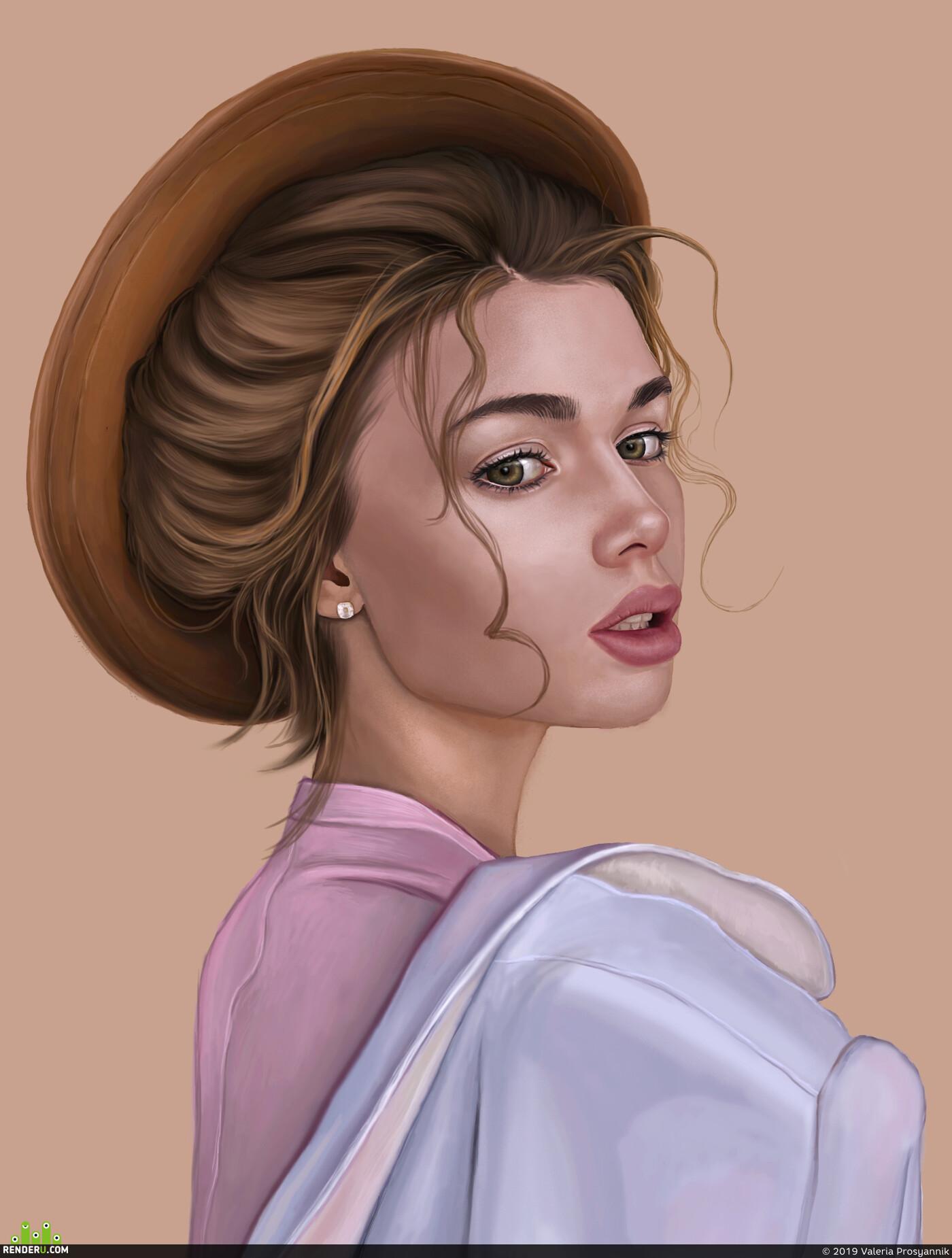 девушка, иллюсрация