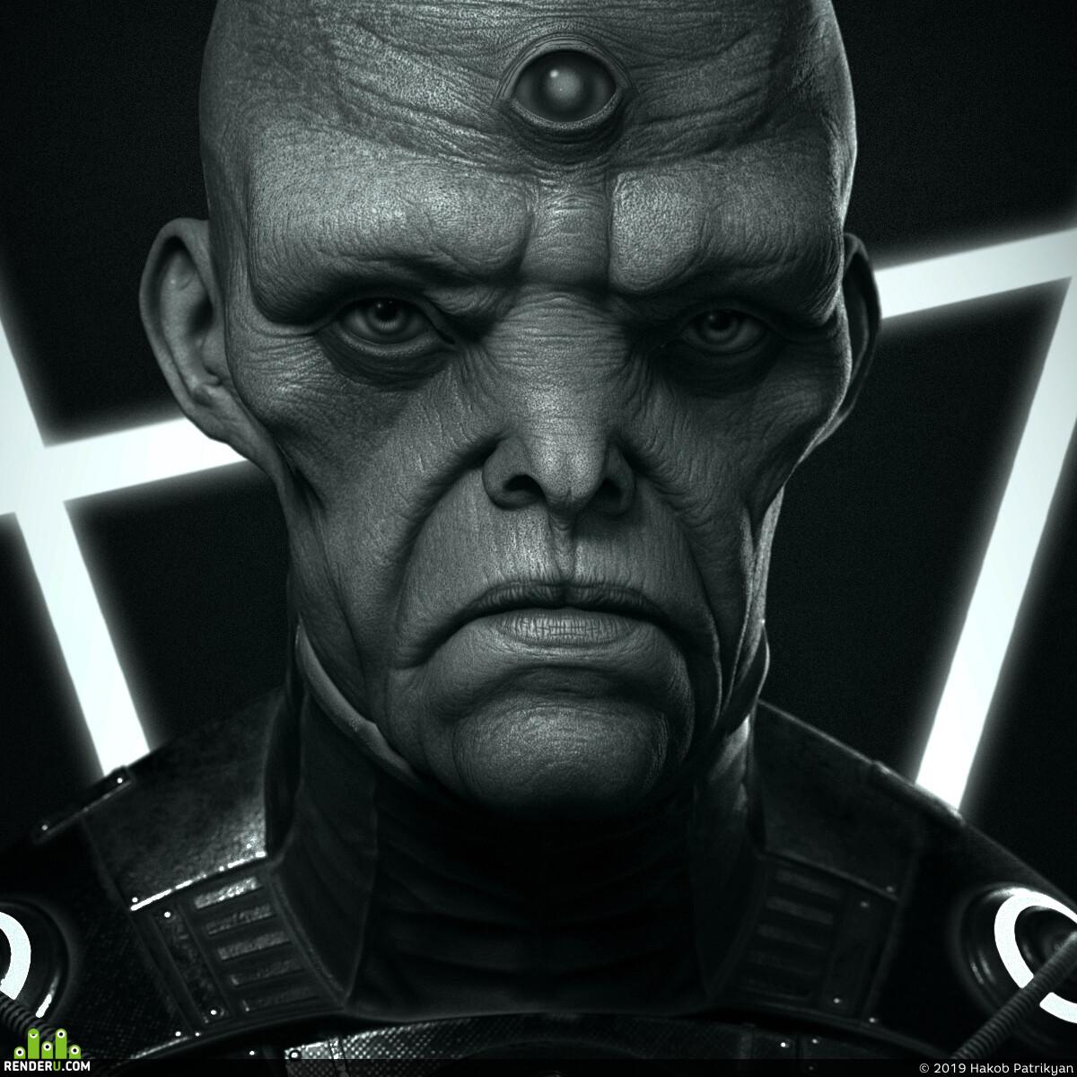 digital 3d, Characters, Concept Art, creatures, Mudbox, speedsculpt, hypnotizer, hypnotize, alien