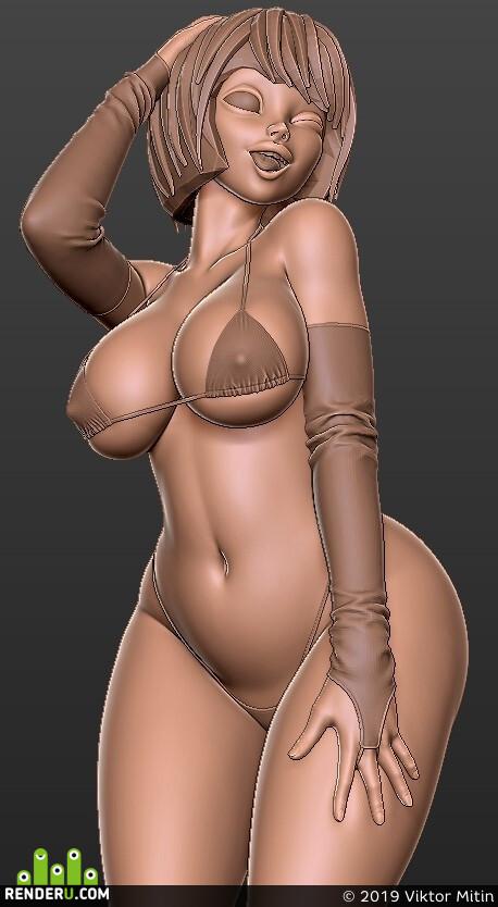 digital 3d, Characters, girl, anime, cartoons