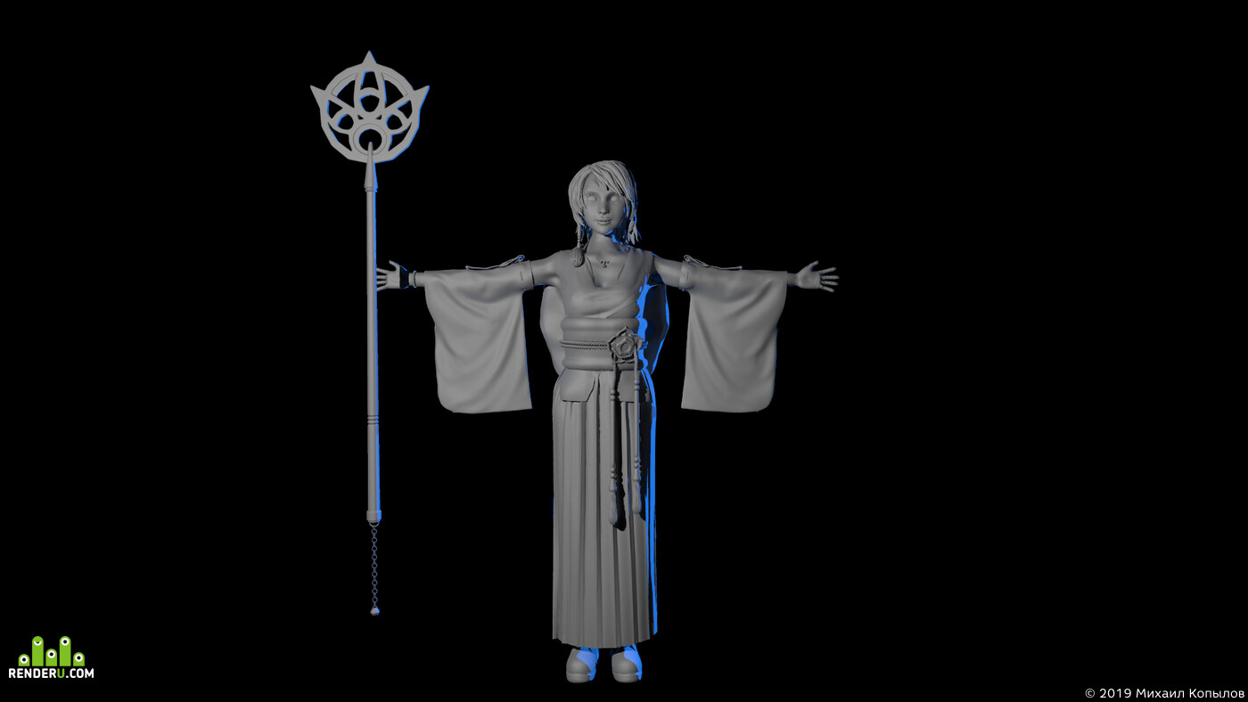 Character, final fantasy, ZBrush, 3ds Max, modeling, 3d model