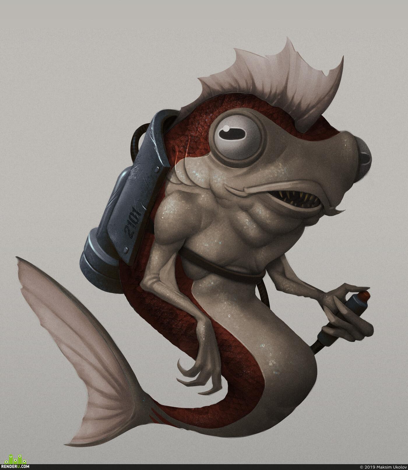 fish, Photoshop, Adobe Photoshop