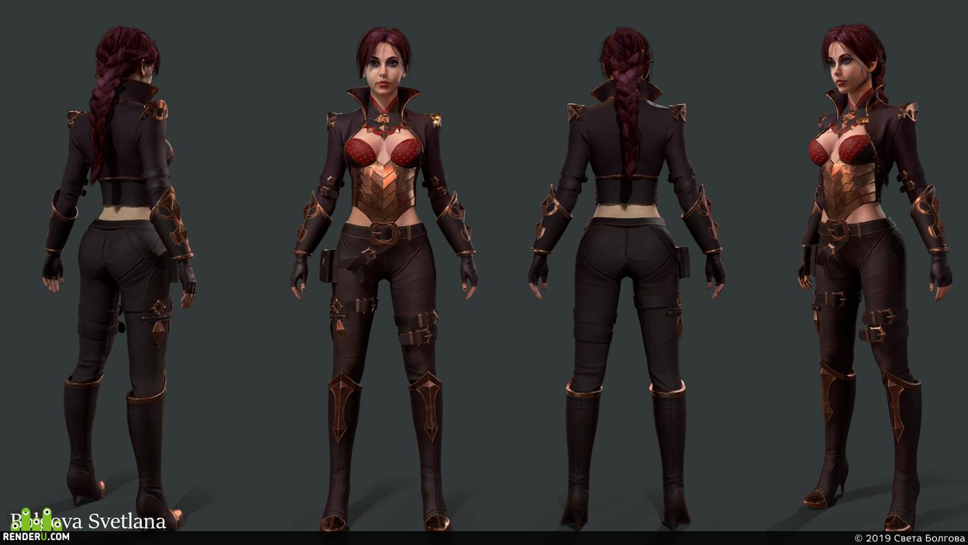 игровой персонаж, женскийперсонаж, 3d персонажи