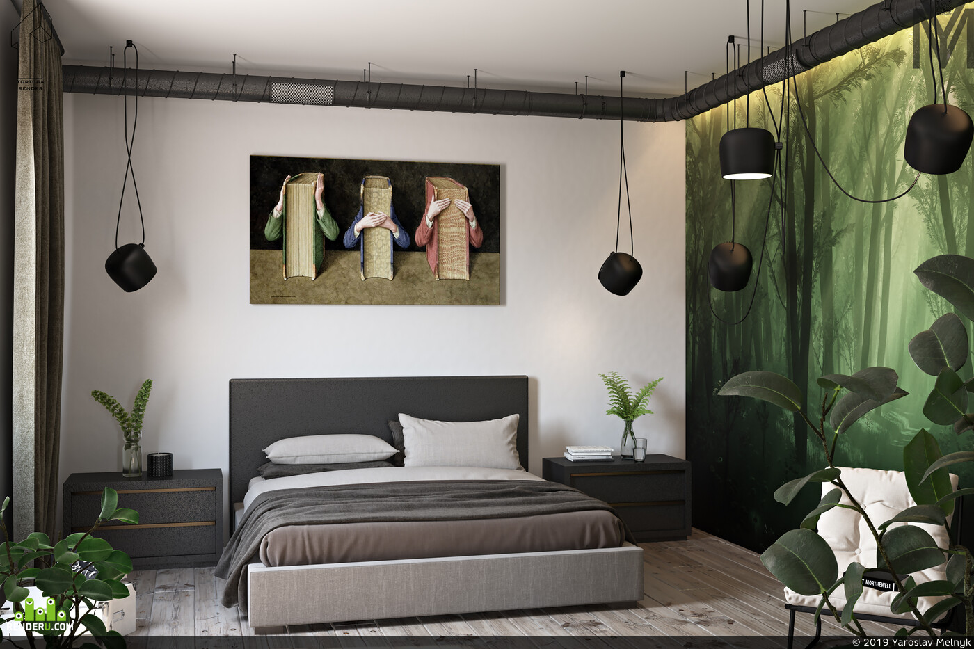 библиотека, дизайн интерьера, interior interior design design 3D 3D Studio Max 3D архитектура интерьер дизайн интерьера интерьер, visualization