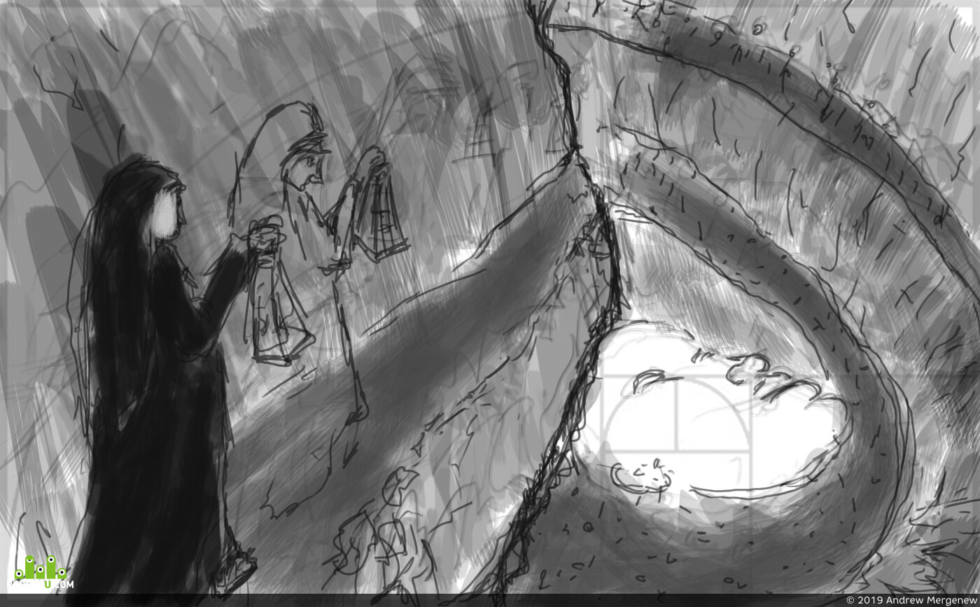 ребенок, монашка, подземелье, пещера