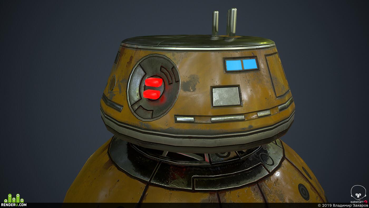 droid, robot, 3ds max, 3d, mecha