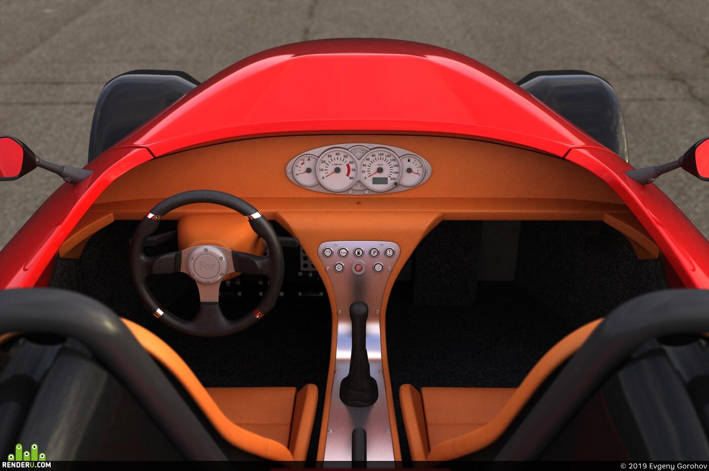 Fox родстер спортивный автомобиль мелкая серия Россия