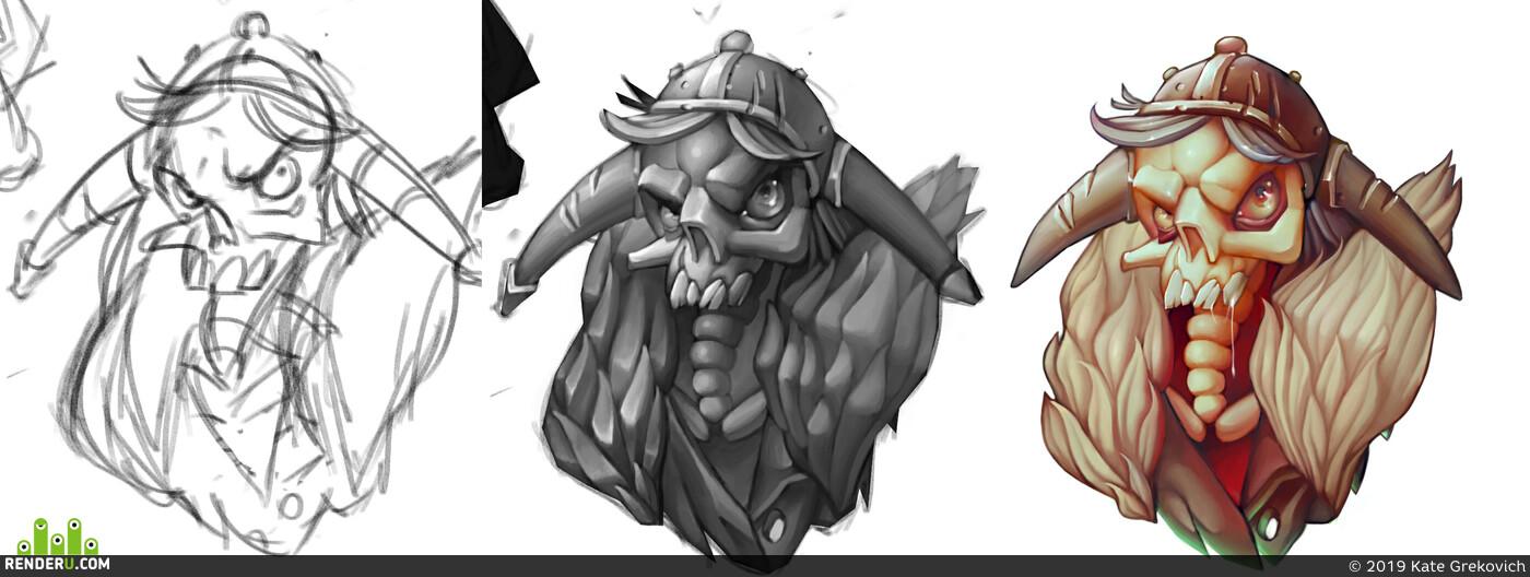 viking, stiker, original, design, Mult, casual style