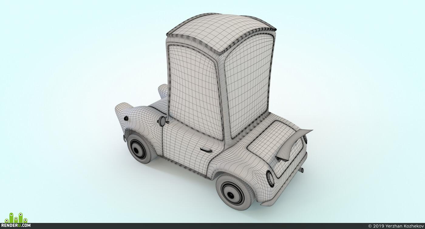 машина, автомобиль, транспорт, мультяшка, мультфильм, мульт, авто