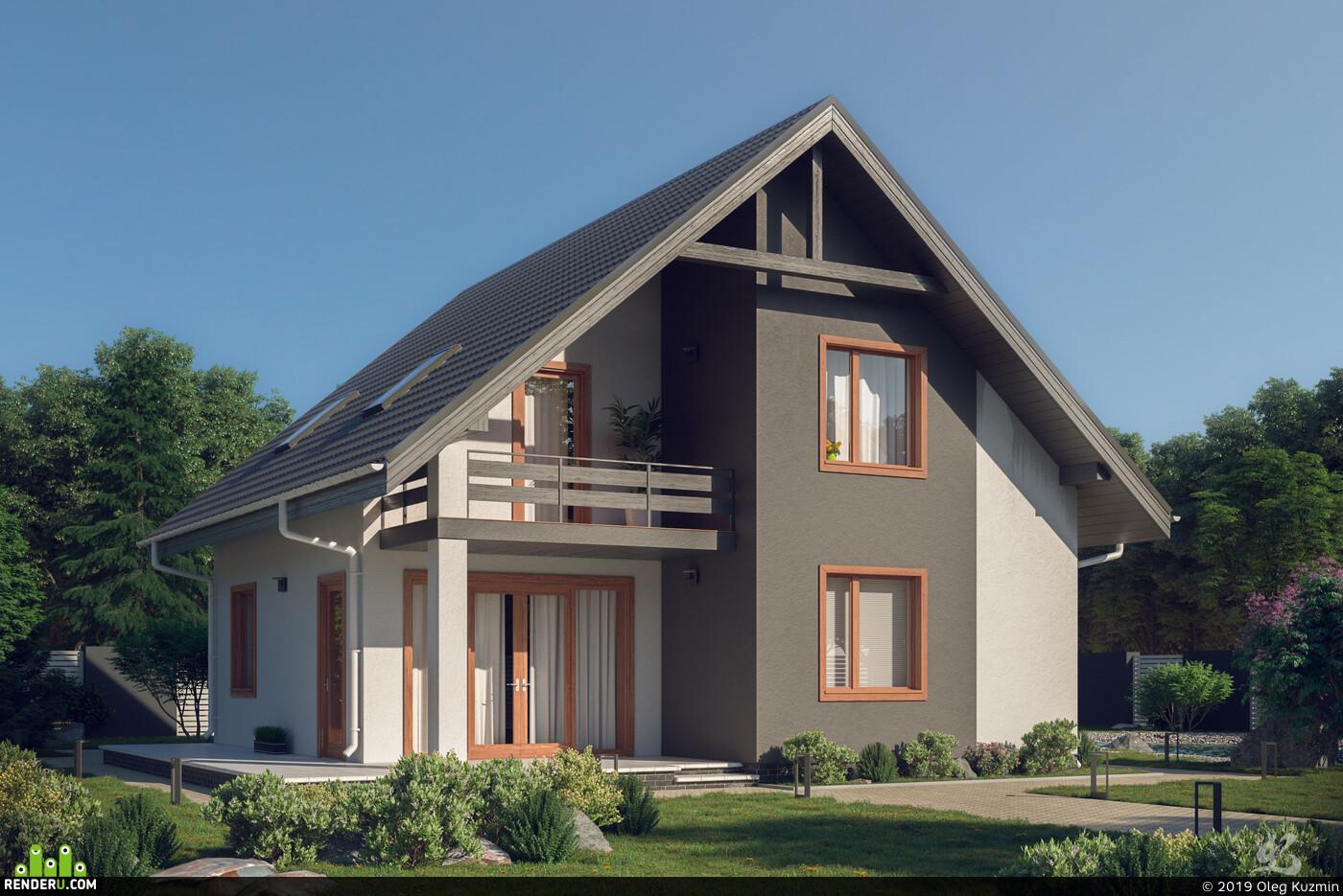 Exterior, archviz, architecture, architectural render, v-ray, 3ds max