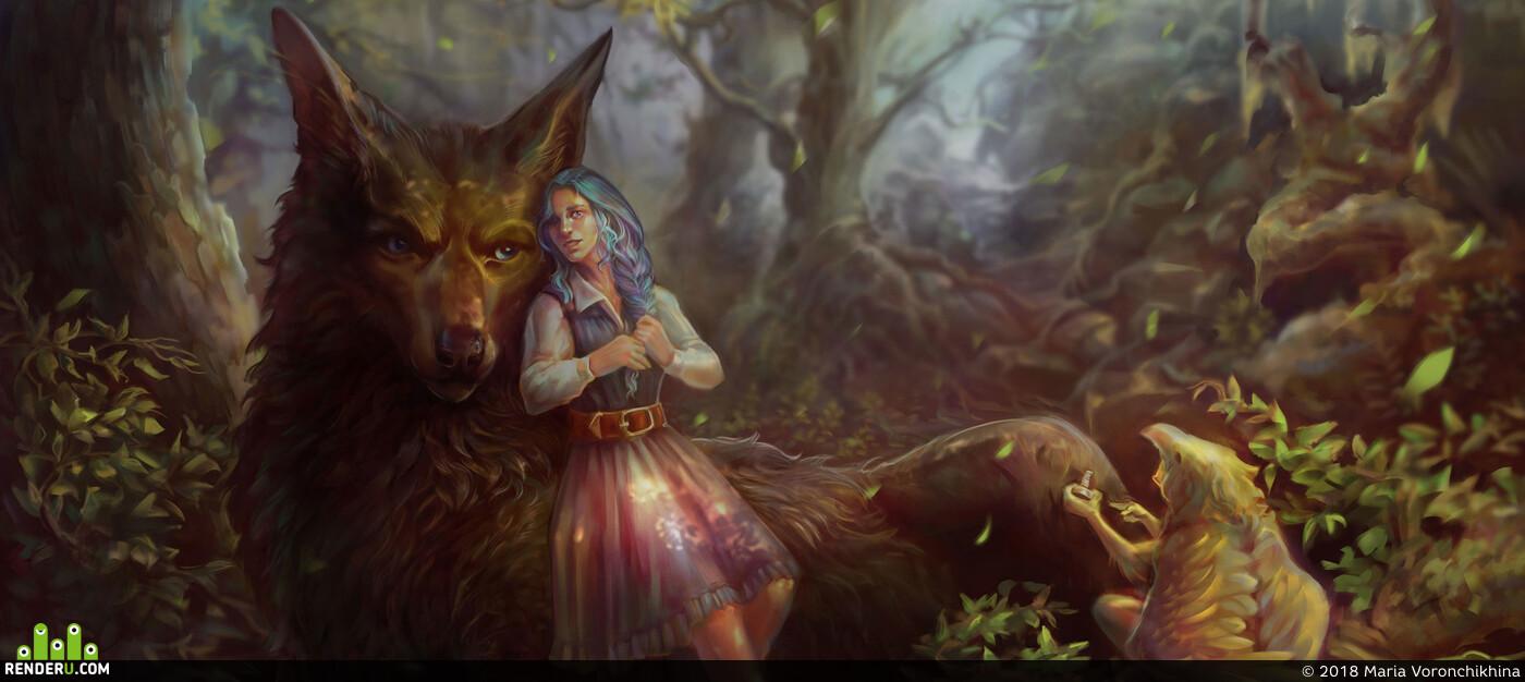 арт, Волк