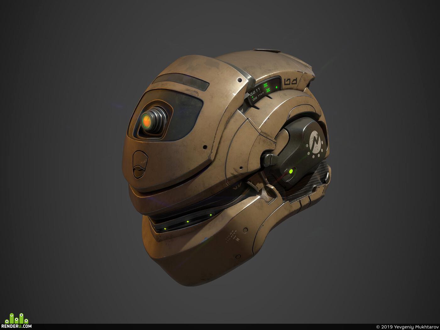 sci-fi helmet, futuristic