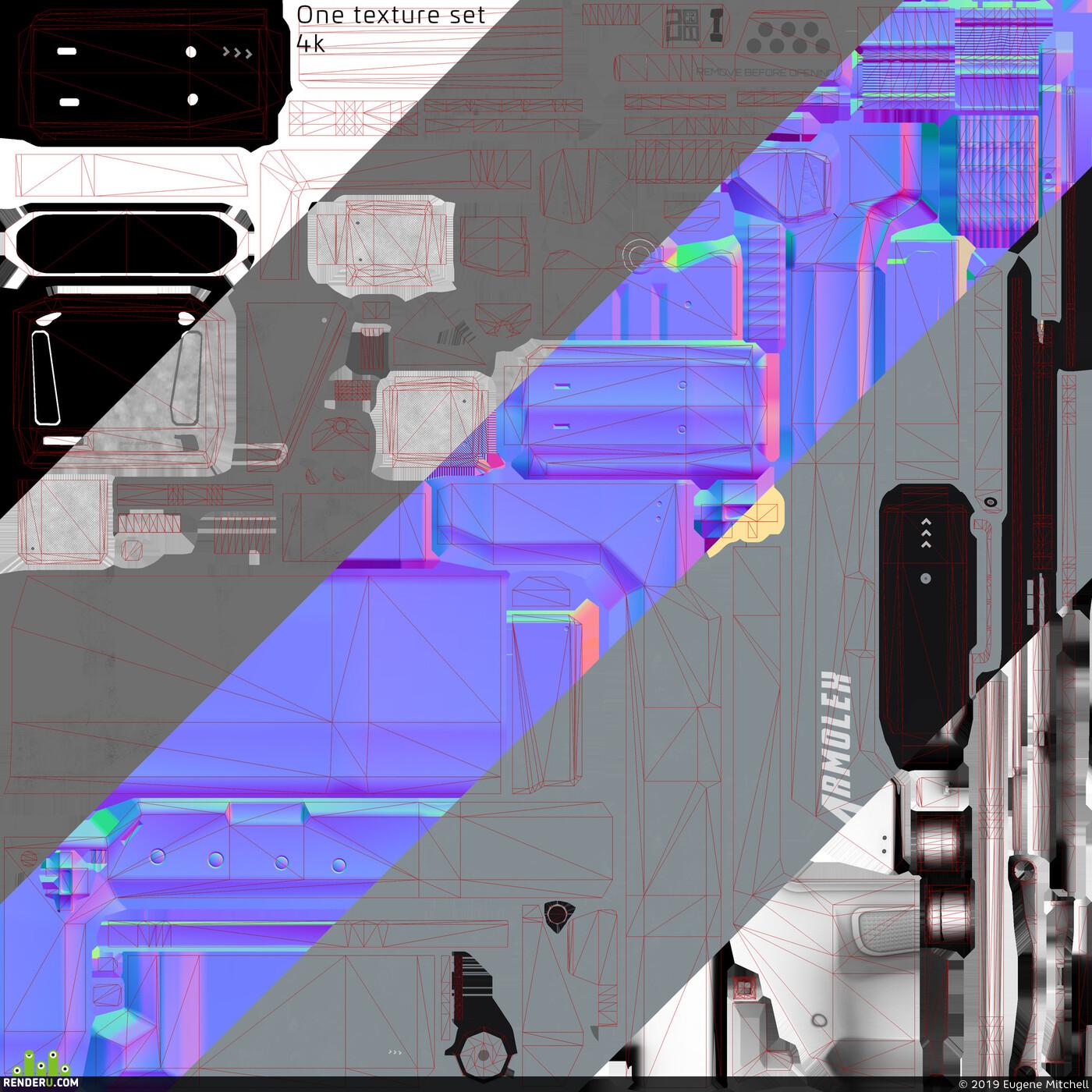 лоуполи, Ящик, SCI FI ящик, ассет, пропсы, assets, low poly, game asset