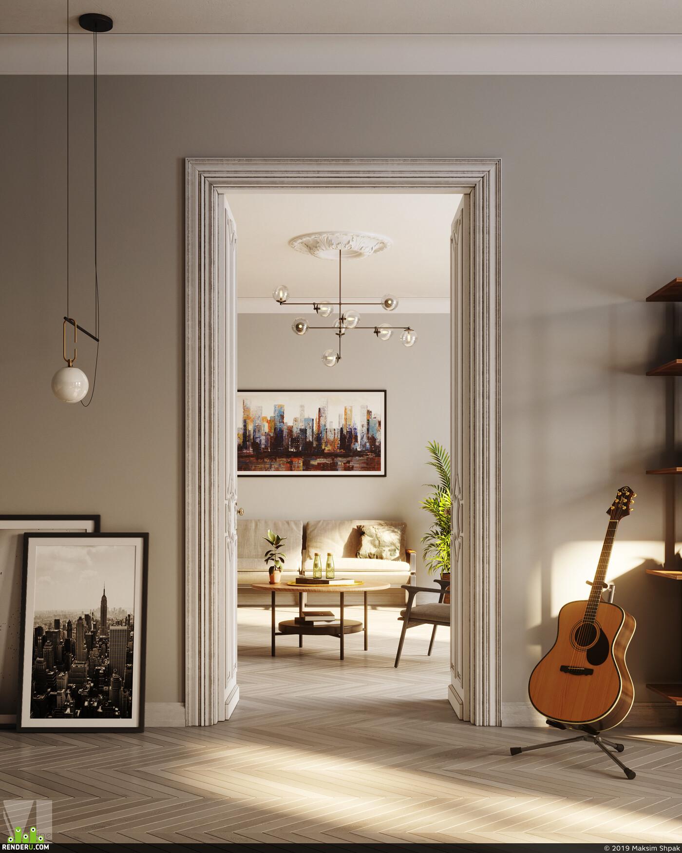 vizlinestudio, VIZUALISATION, 3dviz, interior, Corona Renderer, 3Dsmax