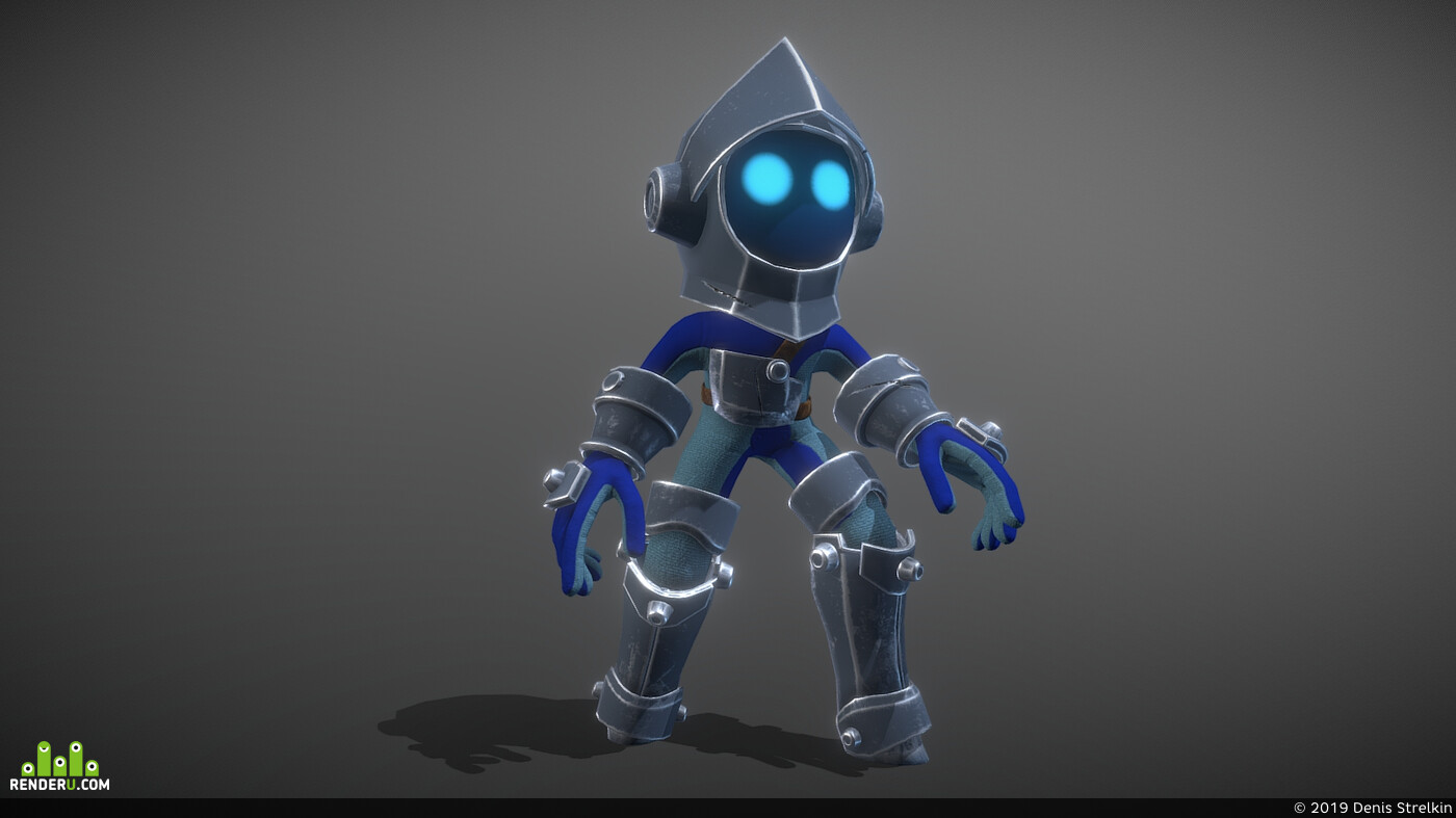 3d, gameasset, Game-ready, 3d character, spiral knights