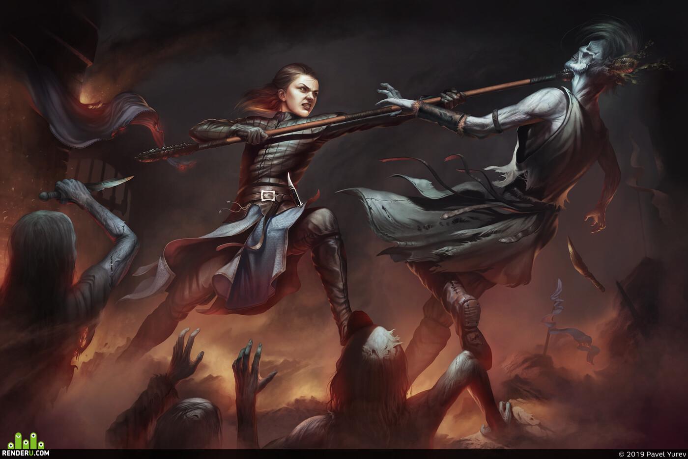 Game of Thrones, White walkers, arya stark