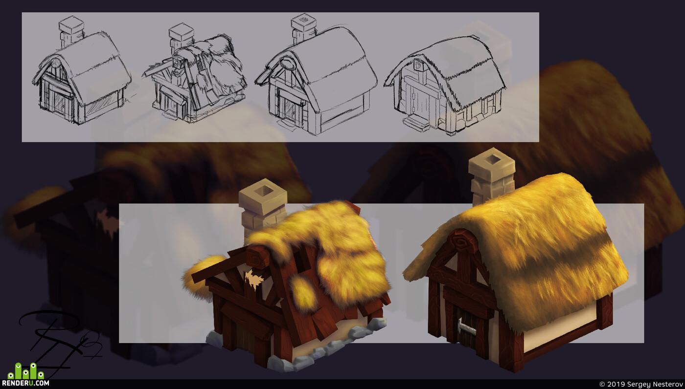 Компьютерная графика/CG, казуальная графика, локация, игроваяграфика, игровая карта, ассет