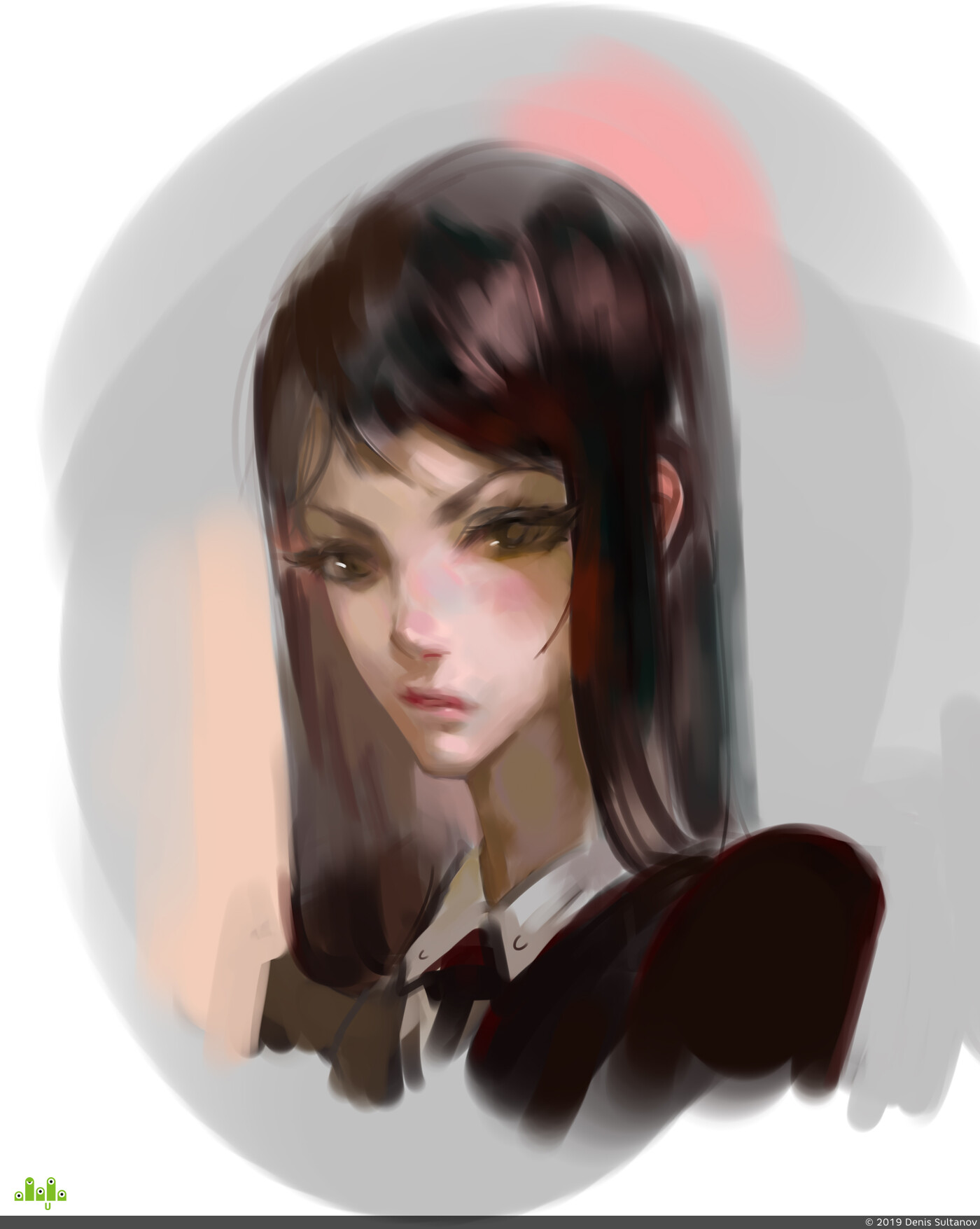 девушка, портрет, Digital 2D