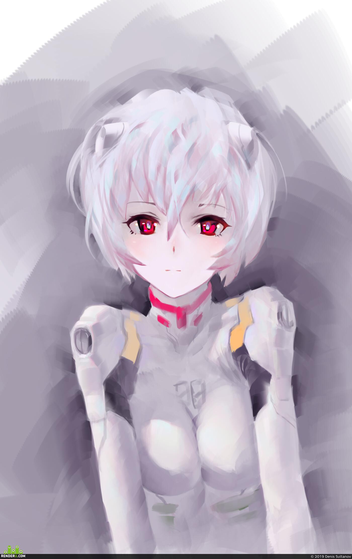 anime, evangelion, girlportrait, Digital 2D