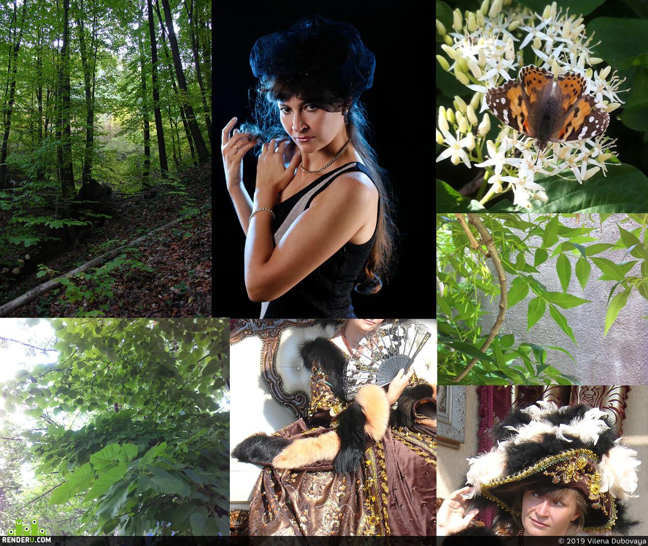 магия, колдунья, огонь, мотыльки, лес, ночь, эффекты, женскийперсонаж, портрет, фантазия