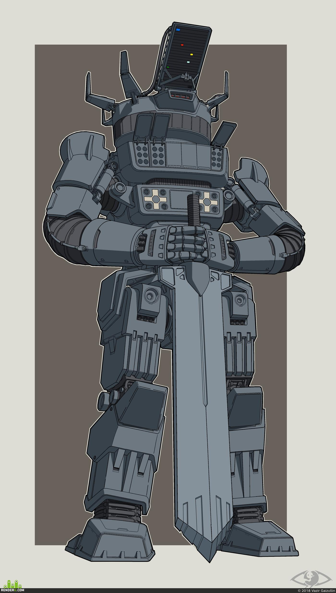 Роботы, механизмы, Концепт-арт