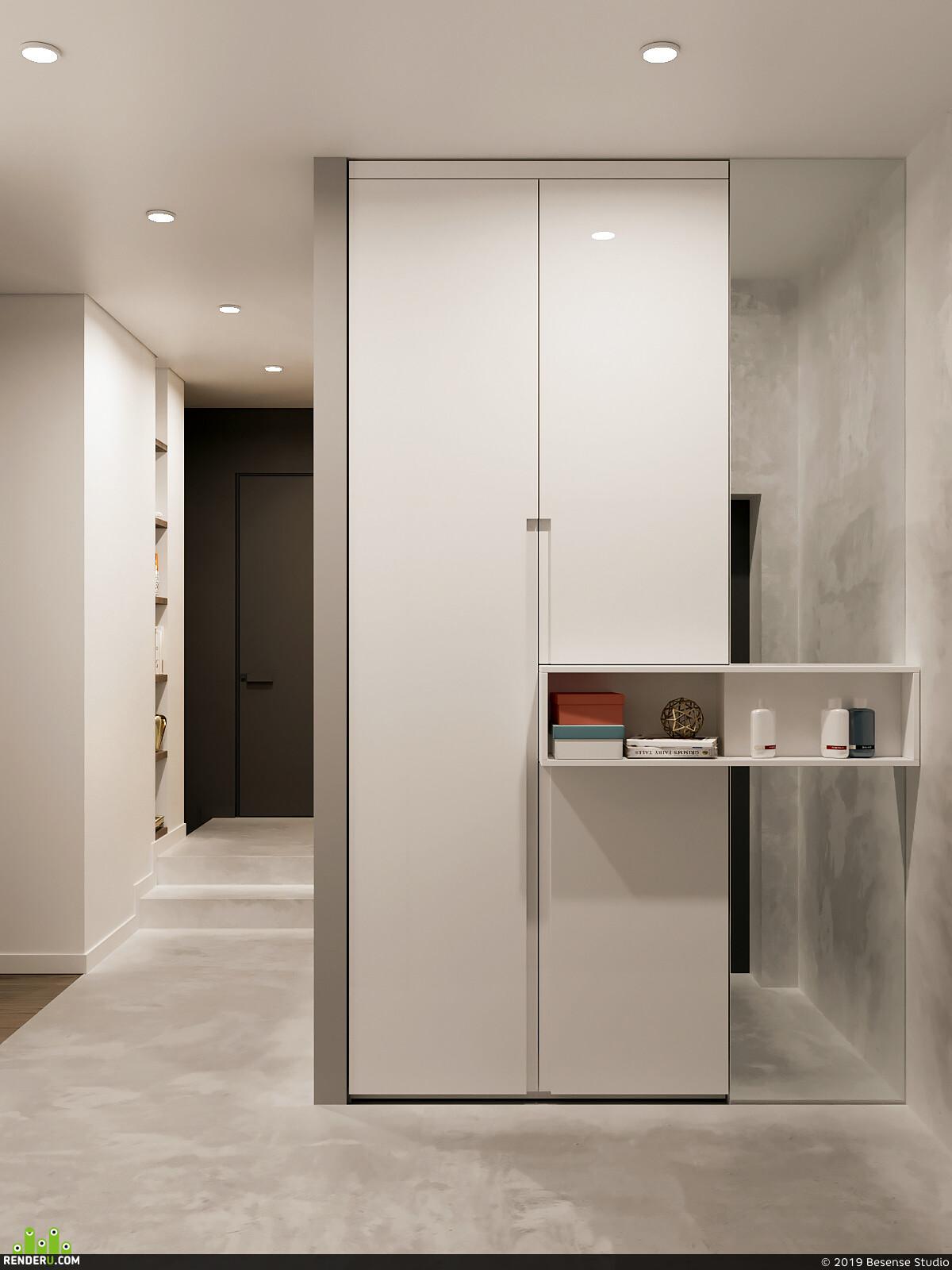 besense, Квартира, Спальня, кухня, кухня-гостиная, детская комната, санузел, душевая кабина, Ванная, лестница