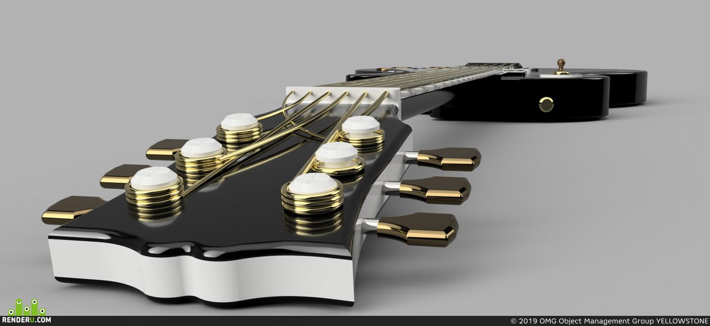 model, 3d model, music, electro, guitar, Fusion 360, 3d