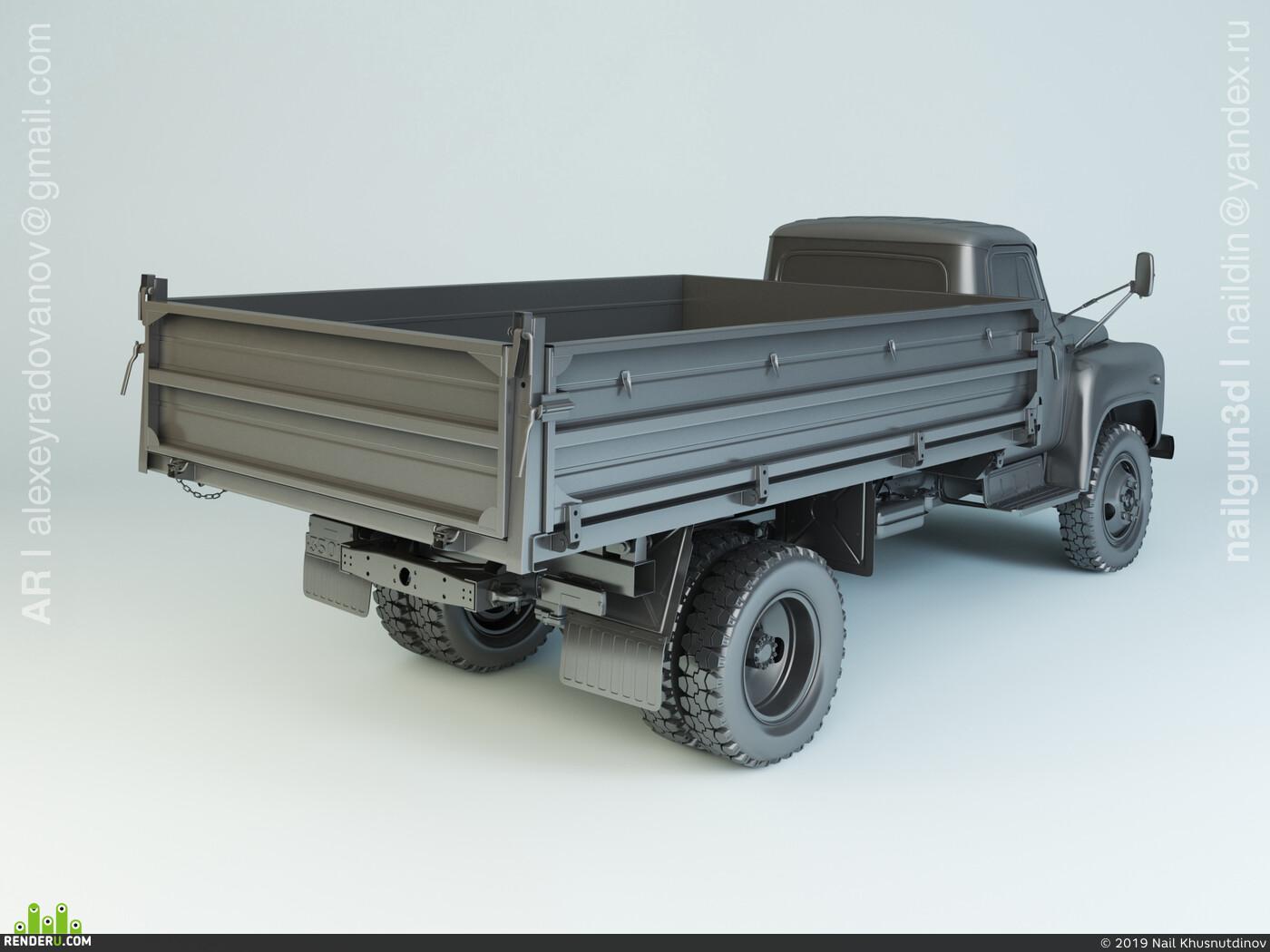 самосвал, газ, САЗ, грузовик, газон, ссср