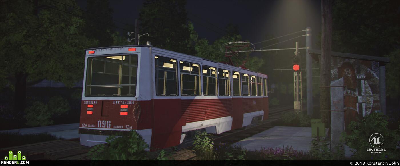 KTM 5 (tramcar), KTM 5, КТМ 5, SSSR, ссср, Трамвай КТМ 5